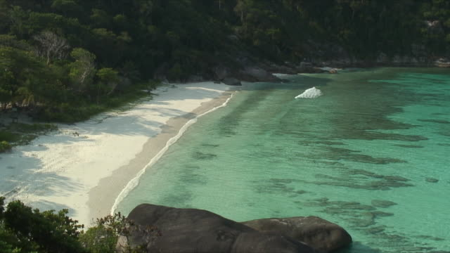ws ha pan yachts and boats anchored in clear bay, similan islands, thailand - anchored stock videos & royalty-free footage