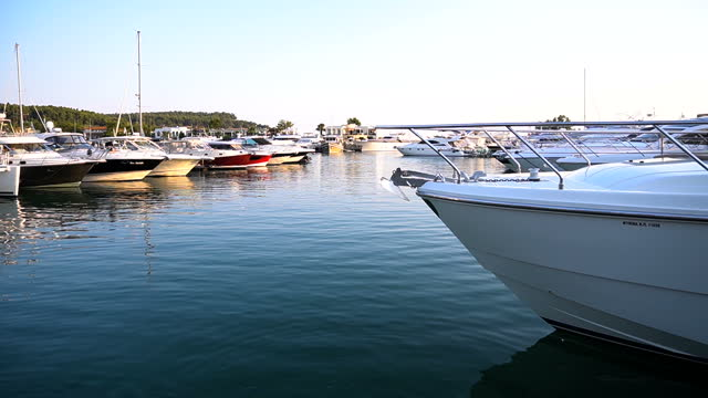 yachts and speed boats at harbor - marina stock videos & royalty-free footage