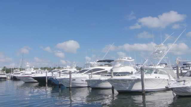 Yachts at Boatyard in Miami