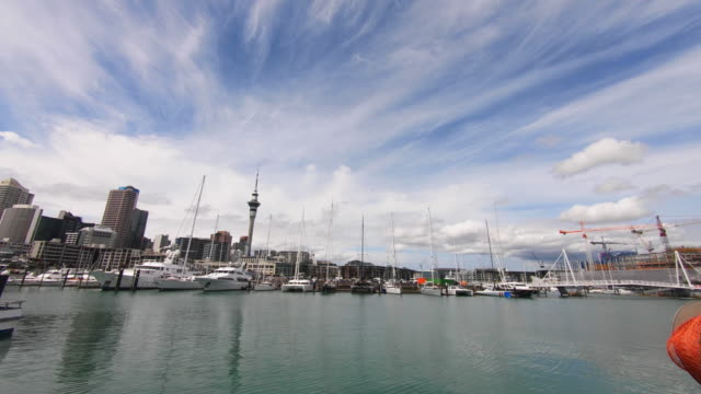 yachts by viaduct harbour, auckland, new zealand - auckland ferry stock videos & royalty-free footage