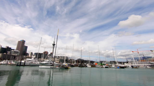 Yachts by Viaduct Harbour, Auckland, New Zealand