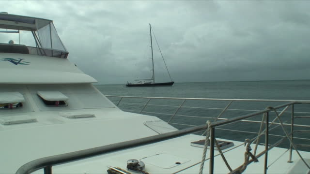 MS Yachts floating at sea, Whitsunday Islands, Queensland, Australia