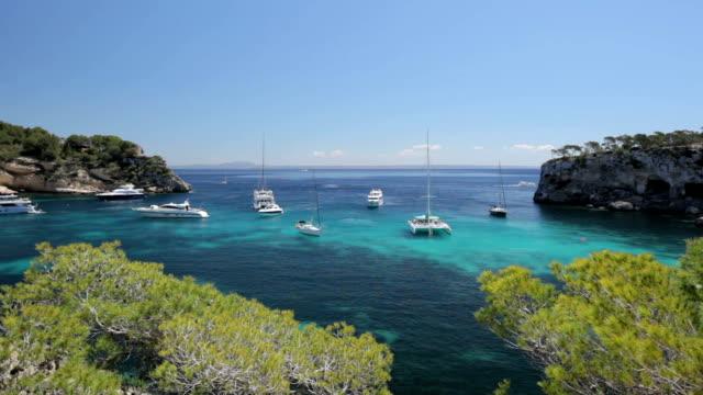 Yachts in Cala Portals Vells