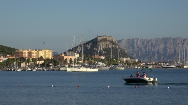 yachts in marina of golfo aranci - sassari stock videos & royalty-free footage