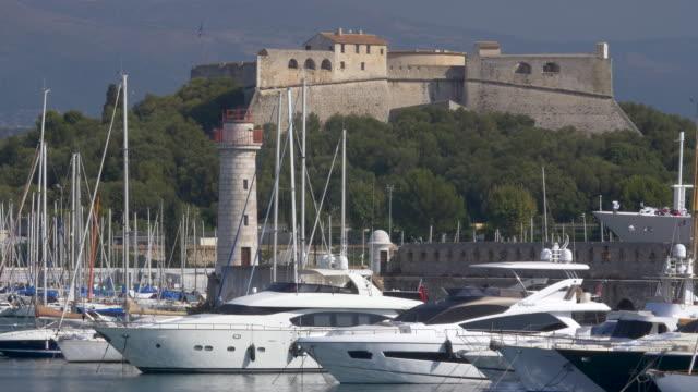 Yachts in the Harbour, Port Vauban, Antibes. Cote d'Azur.