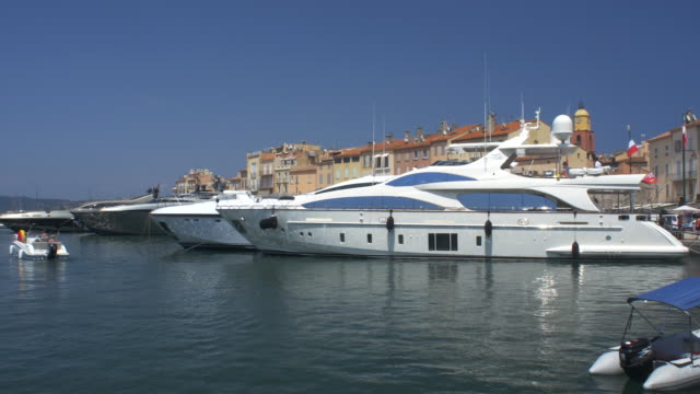 Yachts in the Old Port St Tropez 4K