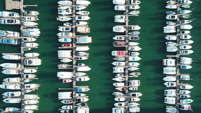 yachts moored in marina - stationary stock videos & royalty-free footage