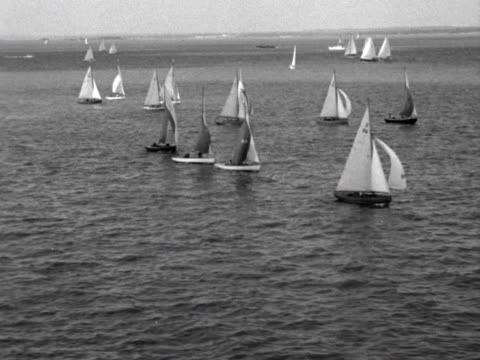 Yachts take part in the sailing event at Cowes week