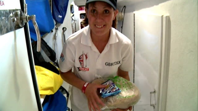 yachts to set sail on around the word voyage as part of clipper race england london smithfield market int people pushing full trolley along low... - galeere stock-videos und b-roll-filmmaterial
