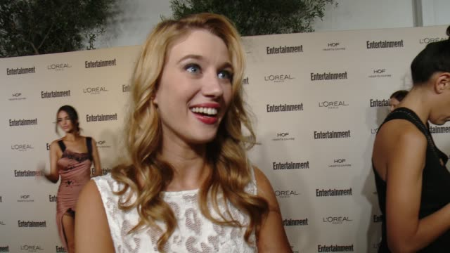 interview yael grobglas on favorite television moments from this past season and on what entertainment weekly means to them at entertainment weekly's... - entertainment weekly stock videos and b-roll footage