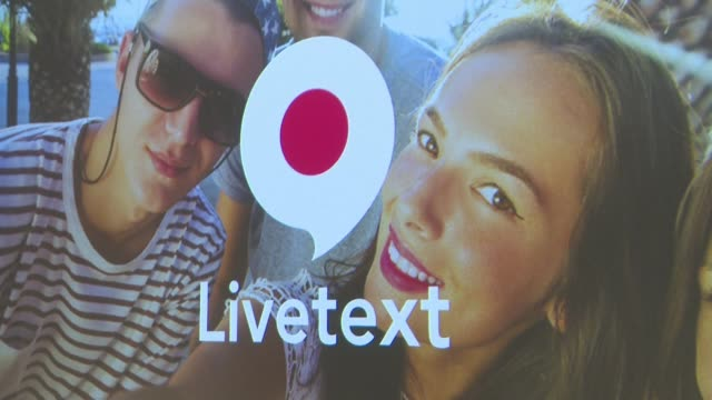 yahoo on wednesday unveiled what it says is a new type of messaging service called livetext which combines text messaging with soundless video - yahoo brand name stock videos & royalty-free footage