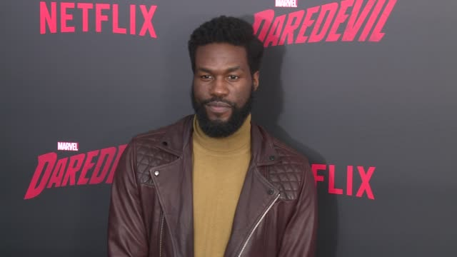 yahya abdulmateen ii at daredevil season 2 premiere at amc loews lincoln square on march 10 2016 in new york city - amc loews stock videos and b-roll footage