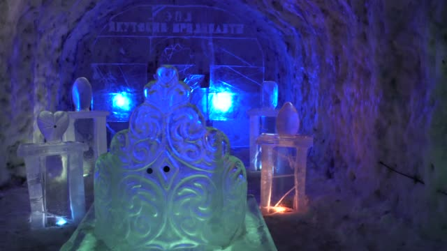 yakutsk sakha republic russia february 15 2020 inside the kingdom permafrost in yakutsk you can study the frost and snowflake patterns and be... - frost stock videos & royalty-free footage