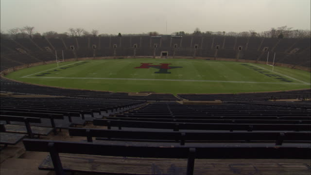 atmosphere yale university football stadium broll in new haven connecticut - ncaa college football stock videos and b-roll footage