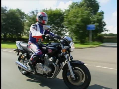 yamaha xjr 1300 - protective sportswear stock videos & royalty-free footage
