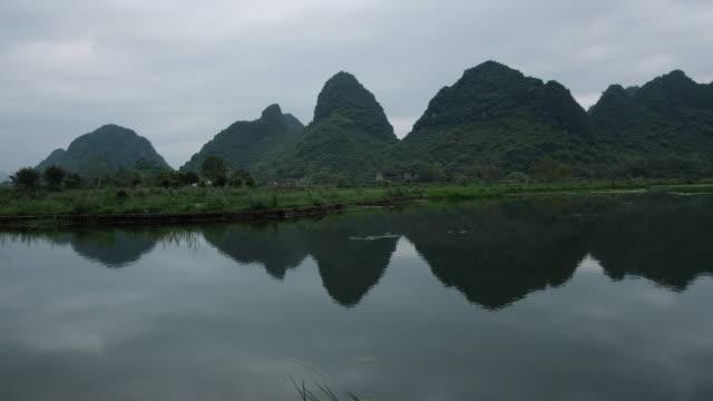 yang shuo landscape - yangshuo stock videos & royalty-free footage