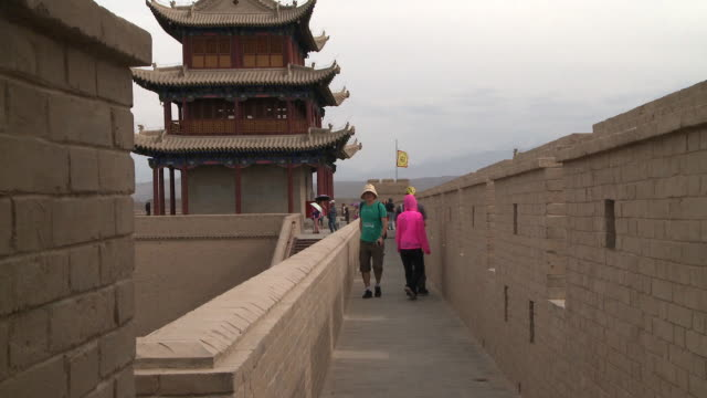 yangguan pass - great wall of china stock videos & royalty-free footage