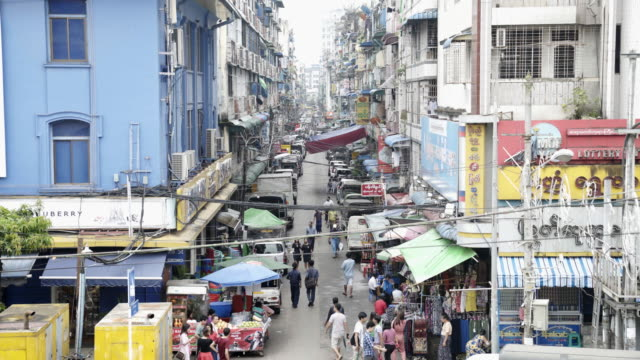 yangon market,myanmar. - myanmar stock videos and b-roll footage