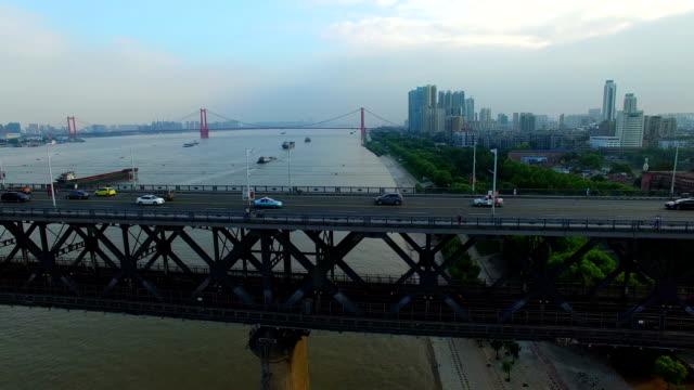 Yangtze River Bridge in Wuhan Hubei China