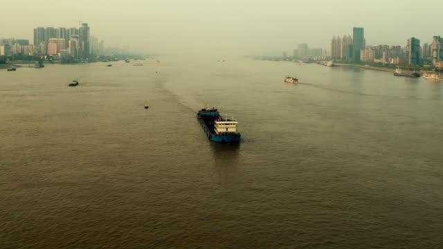 Yangtze River in Wuhan, timelapse