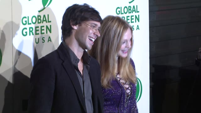 yaniv raz heather graham at the global green usa's 6th annual preoscar party benefiting green schools at los angeles ca - pre party stock videos and b-roll footage