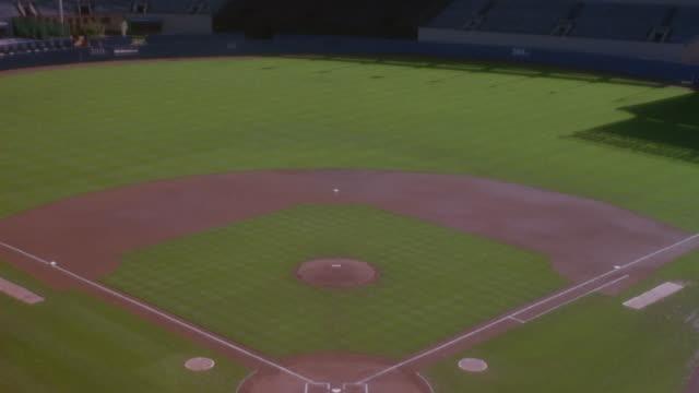 Yankee Stadium sits empty.