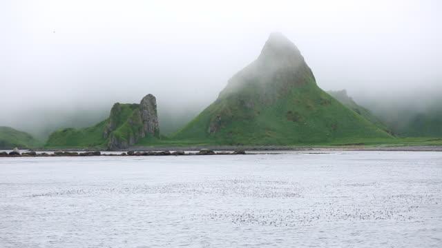 vídeos y material grabado en eventos de stock de yankicha island volcanic caldera - caldera cráter