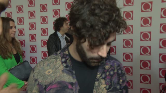 INTERVIEW Yannis Philippakis on being at the awards at Q Awards 2013 at The Grosvenor House Hotel on October 21 2013 in London England