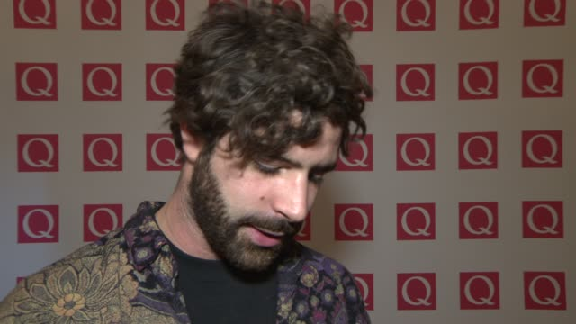 INTERVIEW Yannis Philippakis on winning 'Best Live Act' award at Q Awards 2013 at The Grosvenor House Hotel on October 21 2013 in London England