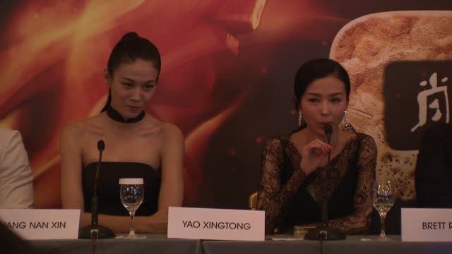 Yao Xingtong on her character working with Jackie Chan at Chinese Zodiac Press Conference 65th Cannes Film Festival on May 18 2012 in Cannes France