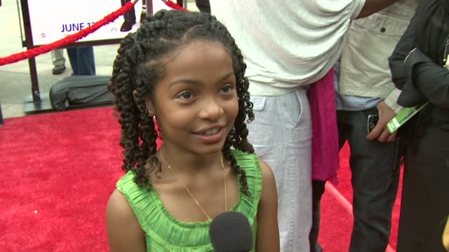 Yara Shahidi about seeing her face on the poster if she prefers imaginary friends or real people her favorite scene to work on the film and what she...