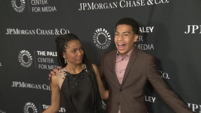 Yara Shahidi and Marcus Scribner at The Paley Center For Media's Tribute To AfricanAmerican Achievements In Television Presented By JPMorgan Chase Co...