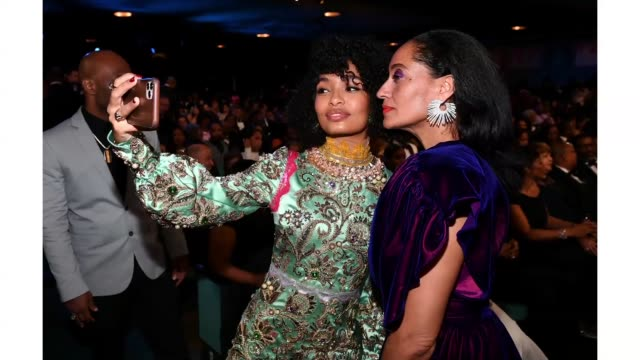 yara shahidi and tracee ellis ross attend the 51st naacp image awards presented by bet at pasadena civic auditorium on february 22 2020 in pasadena... - naacp stock videos & royalty-free footage