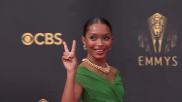 yara shahidi arrives to the 73rd annual primetime emmy awards at l.a. live on september 19, 2021 in los angeles, california. - emmy awards stock videos & royalty-free footage