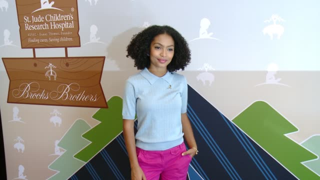 Yara Shahidi at Brooks Brothers Beverly Hills hosts summer camp themed party to benefit St Jude Children's Research Hospital in Los Angeles CA