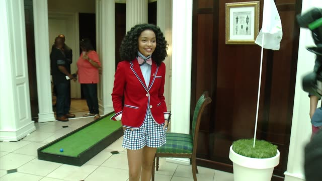 yara shahidi at brooks brothers hosts mini classic golf tournament to benefit st jude children's research hospital at brooks brothers beverly hills... - st. jude children's research hospital stock videos and b-roll footage