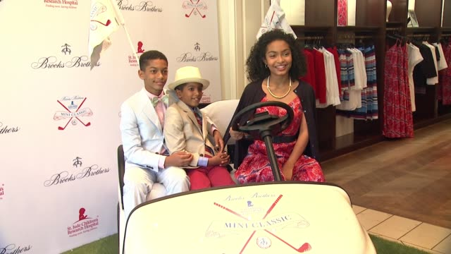Yara Shahidi at BROOKS BROTHERS Hosts Mini Classic to Benefit St Jude Children's Research Hospital at Brooks Brothers in Los Angeles CA