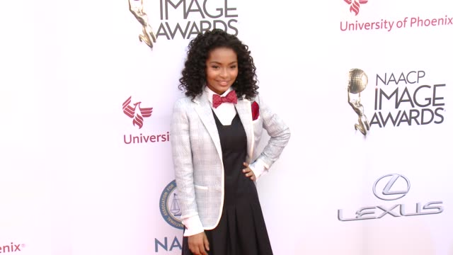 stockvideo's en b-roll-footage met yara shahidi at the 46th annual naacp image awards - arrivals at pasadena civic auditorium on february 06, 2015 in pasadena, california. - pasadena civic auditorium