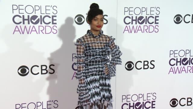 Yara Shahidi at the People's Choice Awards 2017 at Microsoft Theater on January 18 2017 in Los Angeles California