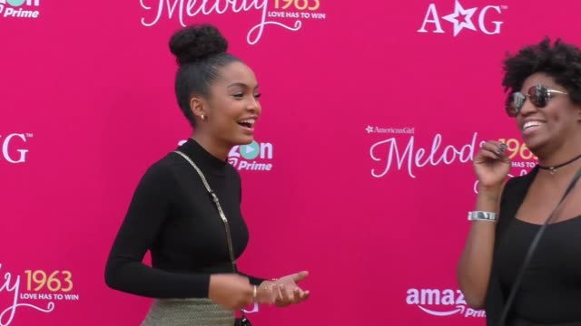 Yara Shahidi at the Premiere Of Amazon Studios' An American Girl Story Melody 1963 Love Has To Win at Pacific Theatres at The Grove in Los Angeles on...