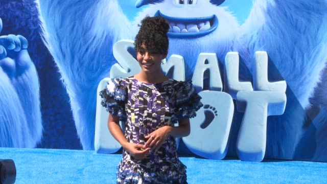 Yara Shahidi at the Smallfoot World Premiere at Regency Village Theatre on September 22 2018 in Westwood California