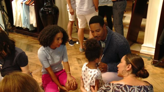 Yara Shahidi Brian White at Brooks Brothers Beverly Hills hosts summer camp themed party to benefit St Jude Children's Research Hospital in Los...
