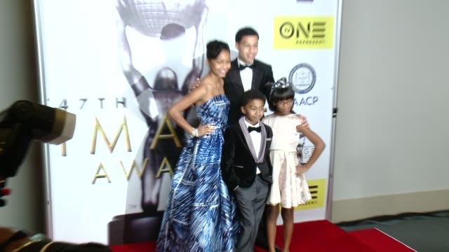 Yara Shahidi Marcus Scribner Miles Brown Marsai Martin at 47th NAACP Image Awards in Los Angeles CA
