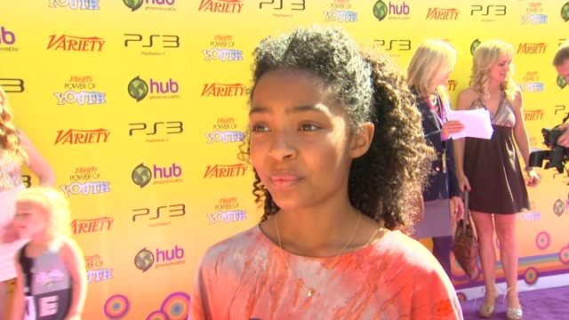 Yara Shahidi on being a part of the event at the Variety's 5th Annual Power Of Youth Event at Los Angeles CA