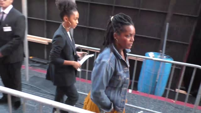 yara shahidi outside the spider-man far from home premiere at tcl chinese theatre in hollywood in celebrity sightings in los angeles, - tcl chinese theatre stock videos & royalty-free footage