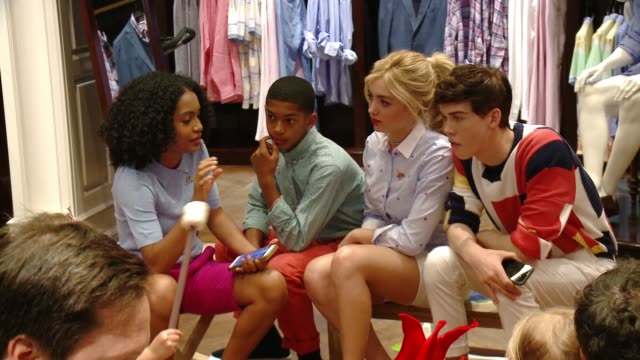 Yara Shahidi Peyton List Aiden Alexander at Brooks Brothers Beverly Hills hosts summer camp themed party to benefit St Jude Children's Research...