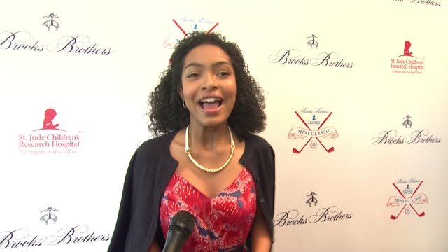 interview yara shahidi what brings her out why the work st jude's does is so important at brooks brothers hosts mini classic to benefit st jude... - st. jude children's research hospital stock videos and b-roll footage