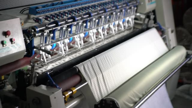 yarn fabric factory - ball of wool stock videos & royalty-free footage