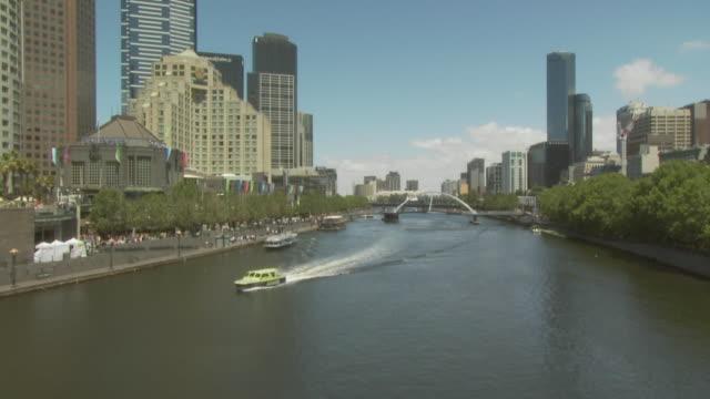 Yarra river and boats, Melbourne, Australia