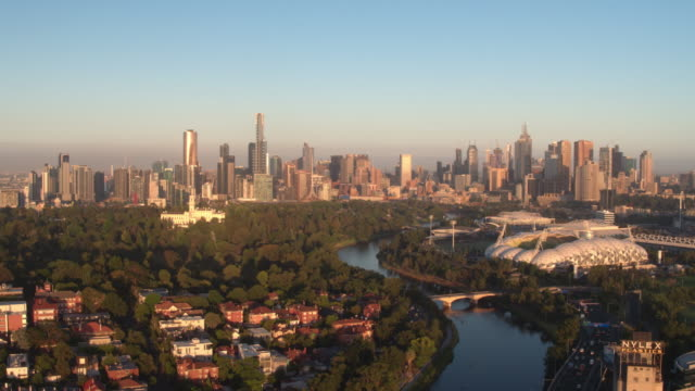 yarra river & melbourne city, victoria - skyline stock videos & royalty-free footage